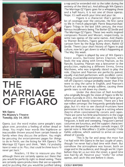 Marriage of Figaro review for X-Press