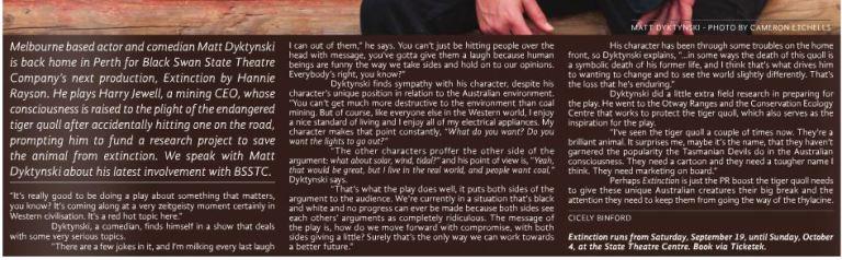 Matt Dyktinski Extinction interview for X-Press