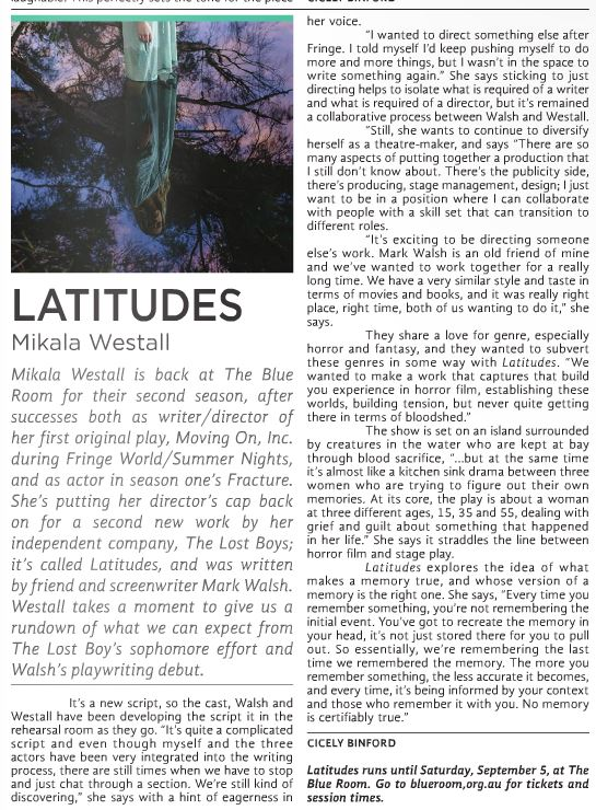 Mikala Westall's Latitudes interview for X-Press