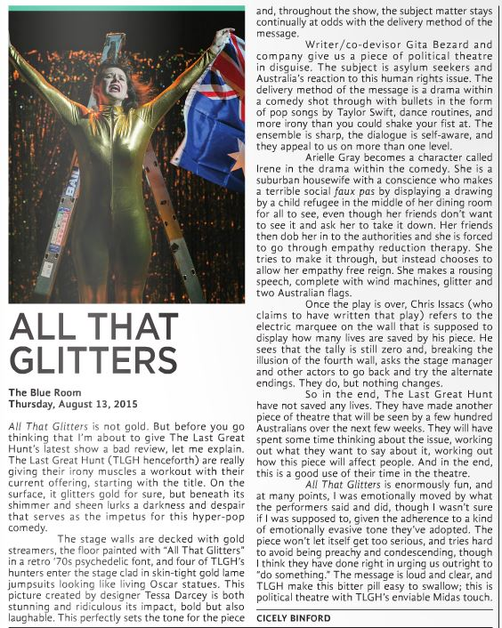 The Last Great Hunt's All That Glitters review for X-Press