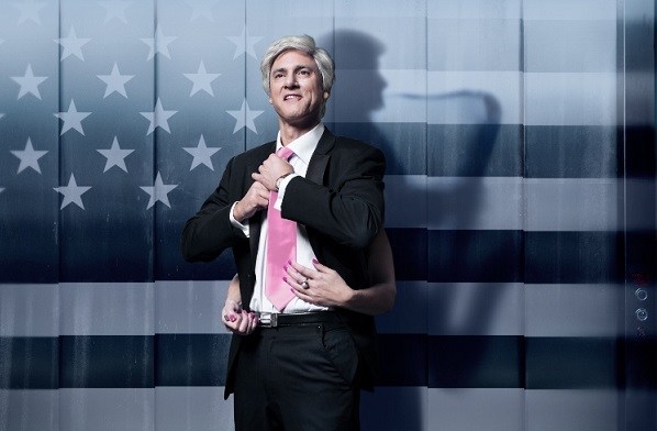 Matt Dyktynski as Bill Clinton in Clinton: The Musical, image by Robert Frith